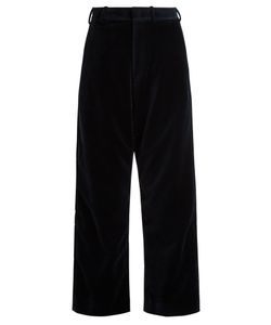 VETEMENTS | X Brioni Wide-Leg Velvet Cropped Trousers