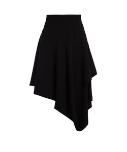 J.W.Anderson | Asymmetric-Hem Draped Cotton-Poplin Skirt