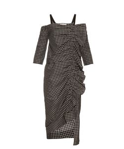 Isa Arfen | Checked Taroni-Silk Dress