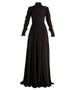 Rochas | High-Neck Silk Gown