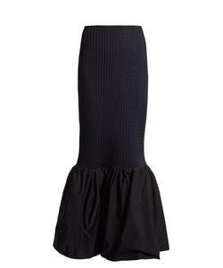 Ellery | Fluted-Hem Ribbed-Knit Skirt