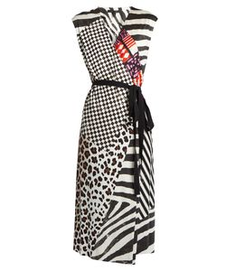 Marc Jacobs | Contrast-Print Sleeveless Jersey Wrap Dress