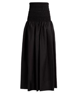 The Row | Cial Cotton-Blend Poplin Maxi Skirt