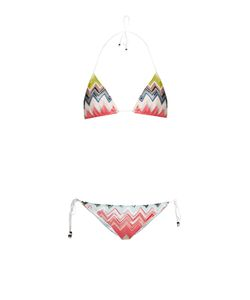 Missoni Mare | Zigzag-Knit Halterneck Triangle Bikini
