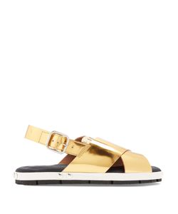 Marni | Fusbett Slingback Leather Sandals
