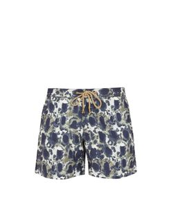 THORSUN   Titan-Fit Tortoise-Print Swim Shorts