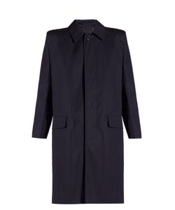 Balenciaga | Structu-Shoulder Cotton Trench Coat
