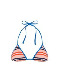 Diane von Furstenberg | Stripe-Print Halterneck Bikini Top