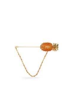 Dolce & Gabbana | Pineapple Crystal-Embellished Brooch