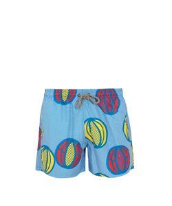ÒKUN   Melon-Print Swim Shorts