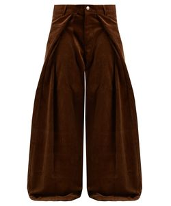 Martine Rose | Fold-Front Wide-Leg Cotton-Corduroy Trousers
