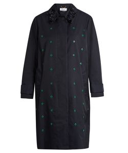 Muveil | Eyelet-Embellished Single-Breasted Coat