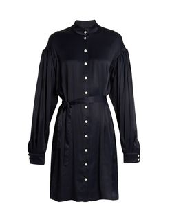 Osman | Tiana Seersucker Shirt Dress