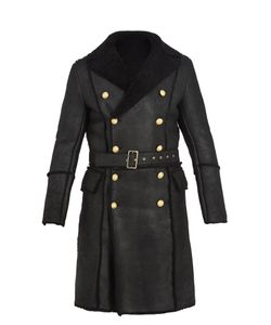 Balmain | Double-Breasted Shearling Coat