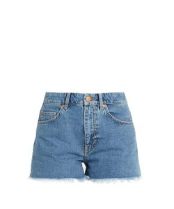 M.i.h Jeans   Halsy Raw-Hem Mid-Rise Shorts