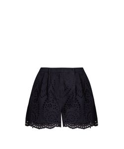 Zimmermann | Broderie-Anglaise Cotton Shorts