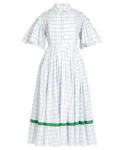 Vika Gazinskaya | Checked Cotton-Poplin Dress