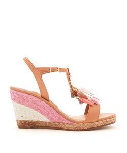 Sophia Webster | Lucita Tassel-Embellished Leather Wedge Sandals