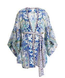 Camilla | Porcelain Paradise-Print Silk Kimono