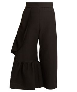 Rachel Comey | Revel Ruffle-Trimmed Cotton-Blend Trousers