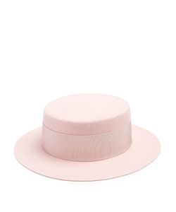Federica Moretti | Lei Wool-Felt Boater Hat