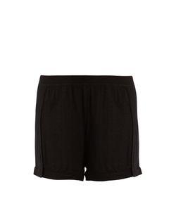 Le Kasha   Bombay Mid-Rise Cashmere Shorts