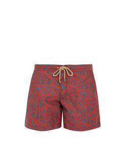 THORSUN   Titan-Fit Shatter-Print Swim Shorts