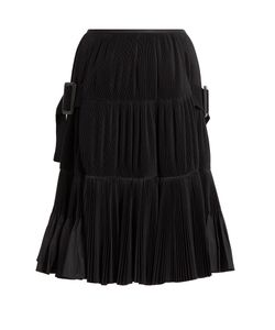 Toga | Accordion-Pleated Taffeta Skirt