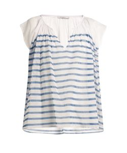 Mes Demoiselles | Mathilde Striped Cotton-Gauze Blouse