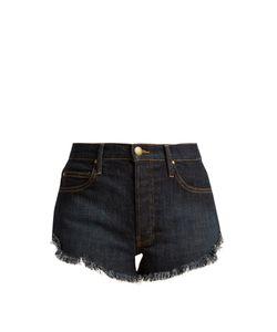 The Great | The Cut Off Raw-Hem Denim Shorts