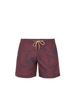 THORSUN   Titan-Fit Shell-Print Swim Shorts