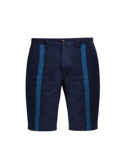 Blue Blue Japan | Slim-Leg Striped-Front Cotton Shorts