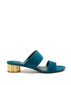 Salvatore Ferragamo | Belluno Flower-Heel Suede Sandals