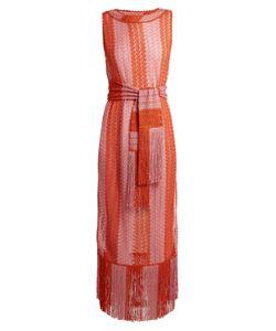 Missoni Mare | Fringed Striped Fine-Knit Dress