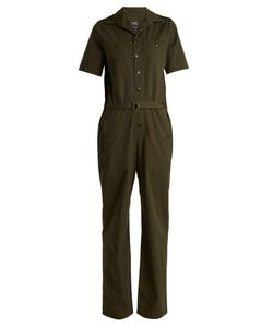 A.P.C. | Gina Short-Sleeved Cotton Jumpsuit