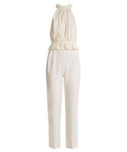 Emilia Wickstead | Everette Halterneck Wool-Crepe Jumpsuit