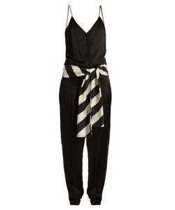 HILLIER BARTLEY | Sleeveless Silk-Satin Slim-Leg Jumpsuit