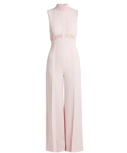 Emilia Wickstead | Hulla Ruched Crepe Wide-Leg Jumpsuit