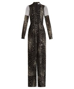 RED Valentino | Star-Print Silk-Blend Jumpsuit