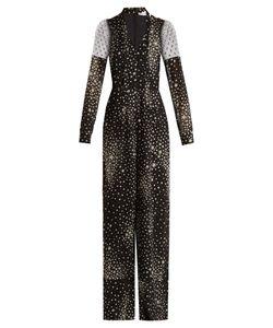 RED Valentino | Star-Print Silk-Blend Jumpsuit