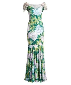 Dolce & Gabbana | Ortensia-Print Embellished Cady Gown