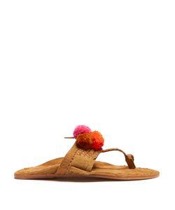 Figue | Lolita Pompom-Embellished Suede Sandals