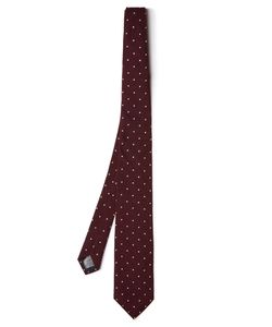 Dunhill | Polka-Dot Embroide Silk Tie