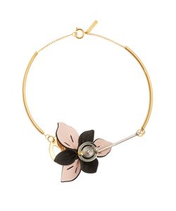 Marni | Leather-Petal Necklace