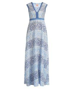 LE SIRENUSE, POSITANO   Astrid Arabesque-Print Cotton-Blend Dress
