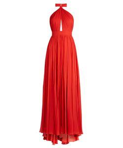 Elie Saab   Halterneck Silk-Georgette Gown