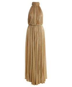 Maria Lucia Hohan | Ballari Pleated Halterneck Mesh Dress