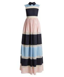Huishan Zhang | Rivet Multi-Print Patchwork Dress