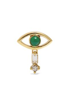 Ileana Makri | Diamond Emerald Earring