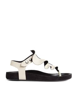 Isabel Marant | Leakey Ruffle-Trimmed Flat Leather Sandals